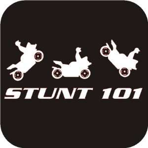 Stunt 101 funny Vinyl Die Cut Decal Sticker Automotive