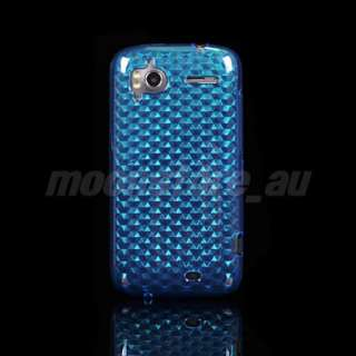 SOFT TPU GEL CASE COVER HTC SENSATION 4G G14 BLUE