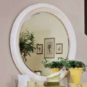 American Drew Camden Antique White Round Mirror   920 015/M71
