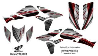Honda TRX 450R ATV Graphics Decal Stickers Kit 1400R
