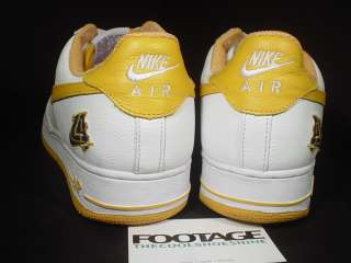 02 Nike Air Force 1 WHITE GOLD LA LOS ANGELES LAKERS 12