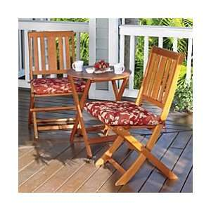 23 Round Eucalyptus Folding Table with 2 Chairs