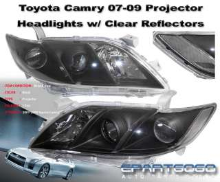 2009 TOYOTA CAMRY BLACK CLEAR PROJECTOR HEADLIGHTS SE LE XLE