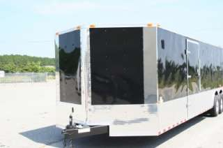 5x28 Enclosed Cargo Auto Car Hauler Race Trailer V Nose Ramp Black