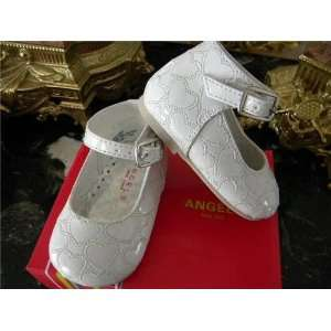 Infant & Toddler Baby Girl White Dress Leather Shoes Tuxedo Style