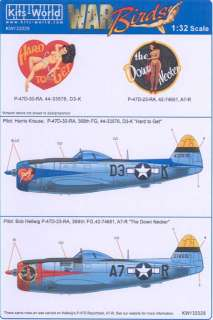 Kits World Decals 1/32 P 47D THUNDERBOLT 368th Fighter Group