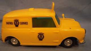 MIB Early 60s AA Patrol Service Mini Van Plastic Hong Kong 16.2cm 6 3