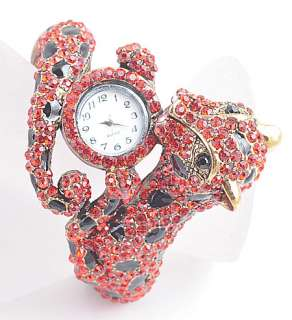 Swarovski Crystal Animal Leopard Bracelet Watch Br315