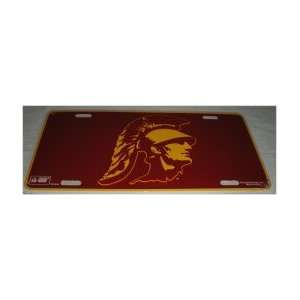 NCAA USC TROJANS METAL License Plate Tag