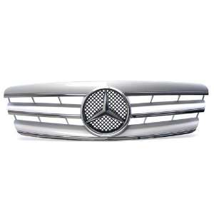 07 Mercedes Benz C class Sedan (W203) ONLY Silver Front Grille Grill