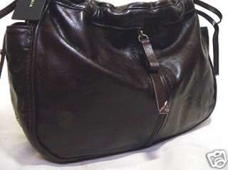 Francesco Biasia AERYN Italian Leather hobo Bag BLACK