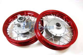 AND REAR RIM WHEEL DRUM BRAKE XR50 CRF50 STOCK BIKE 12mm RM01R + 02R