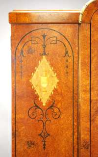 ANTIQUE FRENCH BURLED ART NOUVEAU ARMOIRE WARDROBE