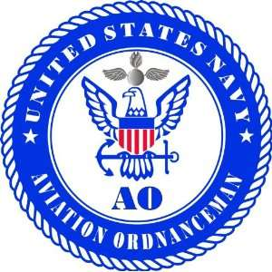 US Navy Aviation Ordnanceman Rating Decal Sticker 3.8 6