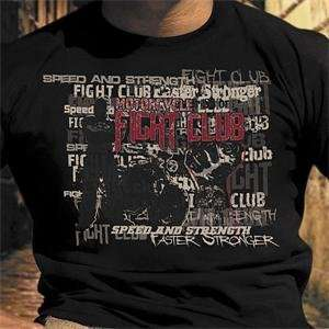 Speed and Strength Fight Club T Shirt   Large/Black