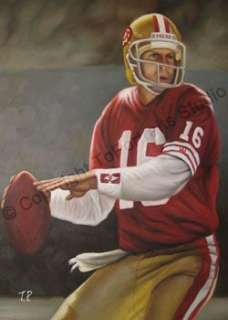 Joe Montana San Francisco 49s Canvas Oil Art Painting