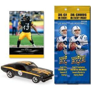 Pittsburgh Steelers 1967 Ford Mustang Fastback Die Cast with Troy