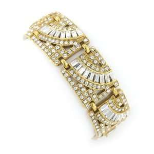 Vintage Couture Art Deco Gold Bracelet Jewelry