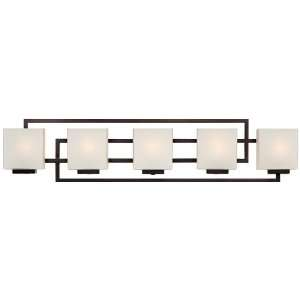 Lighting on the Square Bronze 37 Wide Bath Wall Light