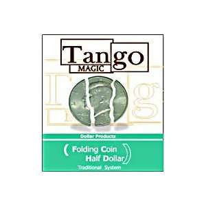 Folding Half Dollar Tango Money Magic Trick Coins Toys