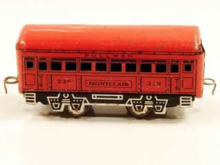 MARX TRAINS 6 TIN LITHO 246 MONTCLAIR PULLMAN CAR LITHO FRAME JOYLINE