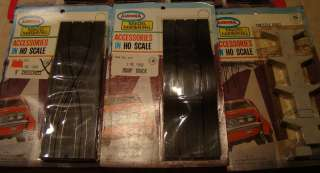 Vintage 1960s Aurora Slot Car Model Motoring Accessories HO Scale Lot