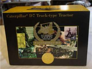 Caterpillar D7 Track Type Tractor Norscot Limited Edition 1/25 Scale