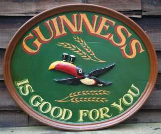 IS GOOD FOR YOU Traditional Wooden Irish Pub Sign   Toucan