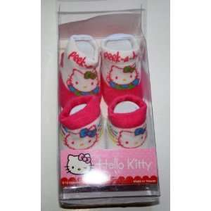Girl Baby Infant Sock, Pink and White Peek a boo 2 Pair. Baby
