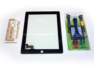 new black oem replacement ipad 2 digitizer with tool kit and 3m