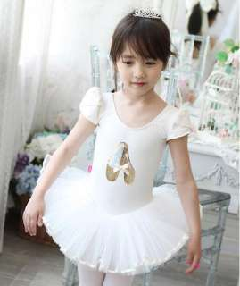 Girl Ballet Dance Shoes Leotard Costume Tutu Dress 3 8Y
