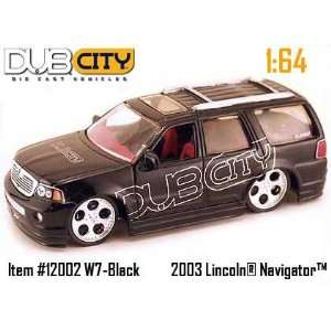 Jada Dub City Black Lincoln Navigator 164 Scale Die Cast