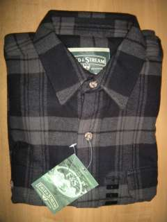 NWT FIELD & STREAM Mens LARGE Heavy Flannel Long Sleeve Shirt GRAY