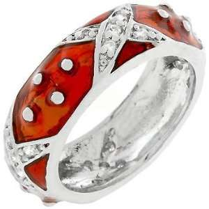 Boogie Down Ruby Red Enamel Ring (size 09) Everything