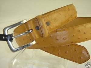 JOHN DEERE TEXTURED TAN LEATHER BELT PEWTER SZ 42