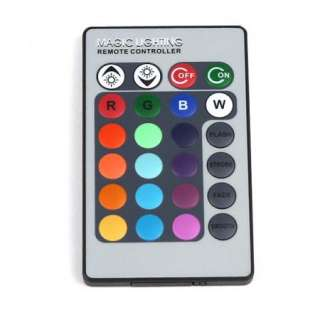 Cyclinder Crystal RGB LED Light Blub Lamp With Remote Controller