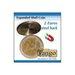 Expanded Shell Coin   2 Euro (Steel Back) by Tango Magic Toys & Games