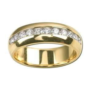 com ARTCARVED HUDSON Mens 14k Two Tone Gold Wedding Band ArtCarved