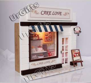 Miniature Model Kit with Light Cake Love Bakery Shop Store NEW in Box