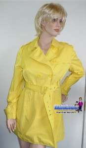Kenneth Cole Reaction Yellow Trench Coat Ladies NEW