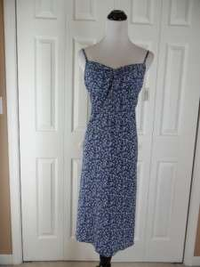 NWT B Moss Blue Floral Sleeveless Sun Dress Size 2