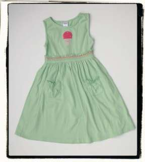 Girls Gymboree POPSICLE PARTY Green Knit Ice Cream Cone Dress sz 6