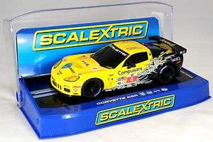 Scalextric Chevrolet Corvette C6R GT2 Slot Car   Racing No. 4   Item