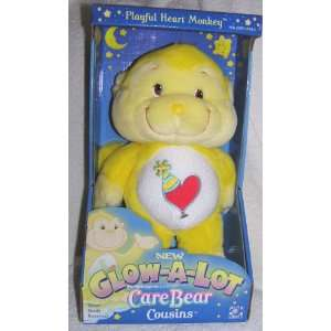 2004 Care Bear Cousins Plush 12 Glow A Lot Playful Heart