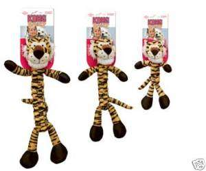 KONG BRAIDZ TIGER SMALL DOG TOY TUG CHEW SHAKE SQUEAK