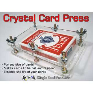 Magic Trick Crystal Card Press by Hondo