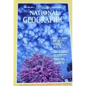 National Geographic January 1981 Mount St. Helens