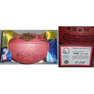 Kerry Collins Autographed Wilson NFL Game Football Sports