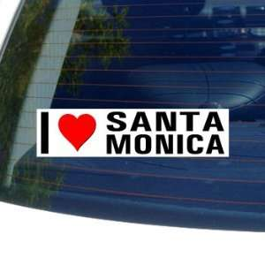 I Love Heart SANTA MONICA Window Bumper Sticker