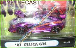 2001 01 TOYOTA CELICA GTS MUSCLE MACHINES IMPORT TUNER DIECAST